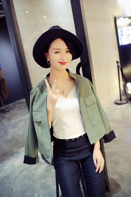 韩流时尚外套 帅气女生爱短外套